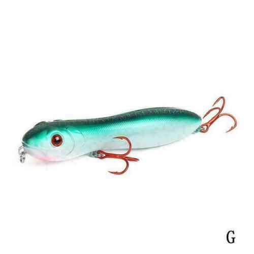 Popper Snake Head Pencil Bait 10cm 15g Fishing lure Crankbait Sea Bass Pike R3A0