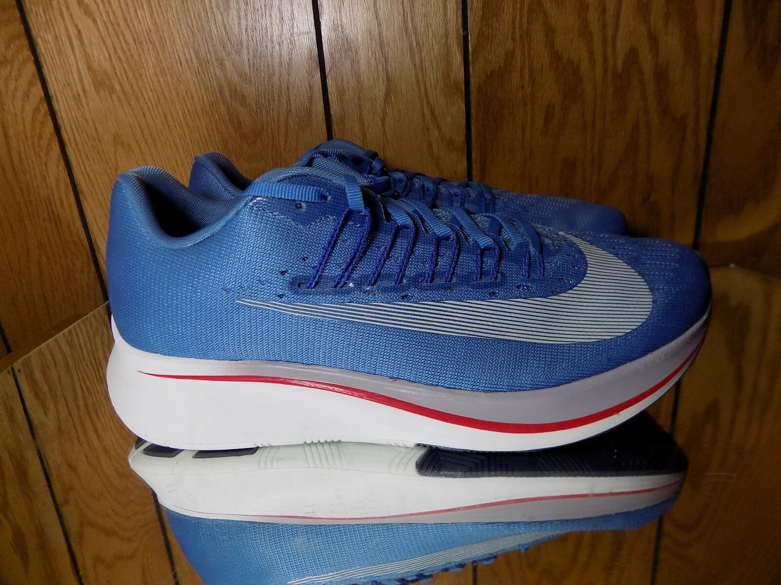 Nike Zoom Fly Storm bluee White Men Running shoes 880848-402 s. 7.5