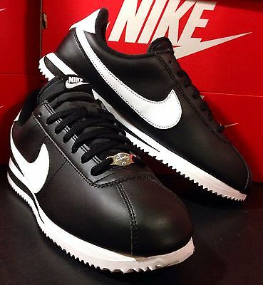 Nike Cortez Basic Leather Black/White New 819719-012 Athletic Sneakers Men's