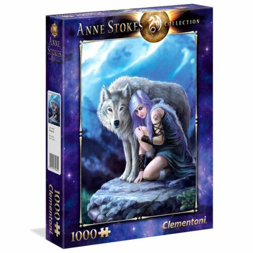 39465 Clementoni Puzzle 1000 Teile Anne Stokes Beschützer