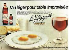 """Publicité Advertising 1981 Le Vin Frais """"La Villageoise"""" par Margnat"""