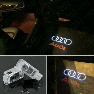 2x Laser LED Logo Door Lamps Puddle Courtesy Projector Shadow Lights For AUDI S5