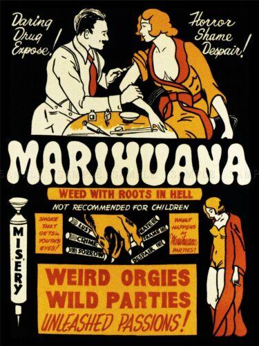 PROPAGANDA DRUG ABUSE MARIJUANA WEED WEIRD COOL ART POSTER PRINT LV6972