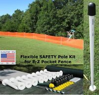 Usa E-z Pocket Fence 4' T Safety Flexpole Kit For Snow Garden Baseball Outfield