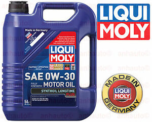 Liqui moly 0w 30 5 liter full synthetic motor oil long for 5 30 motor oil