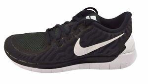 Nike FREE 5.0 Black White Dark Grey-DV Grey 724383-002 (556) Women's Shoes