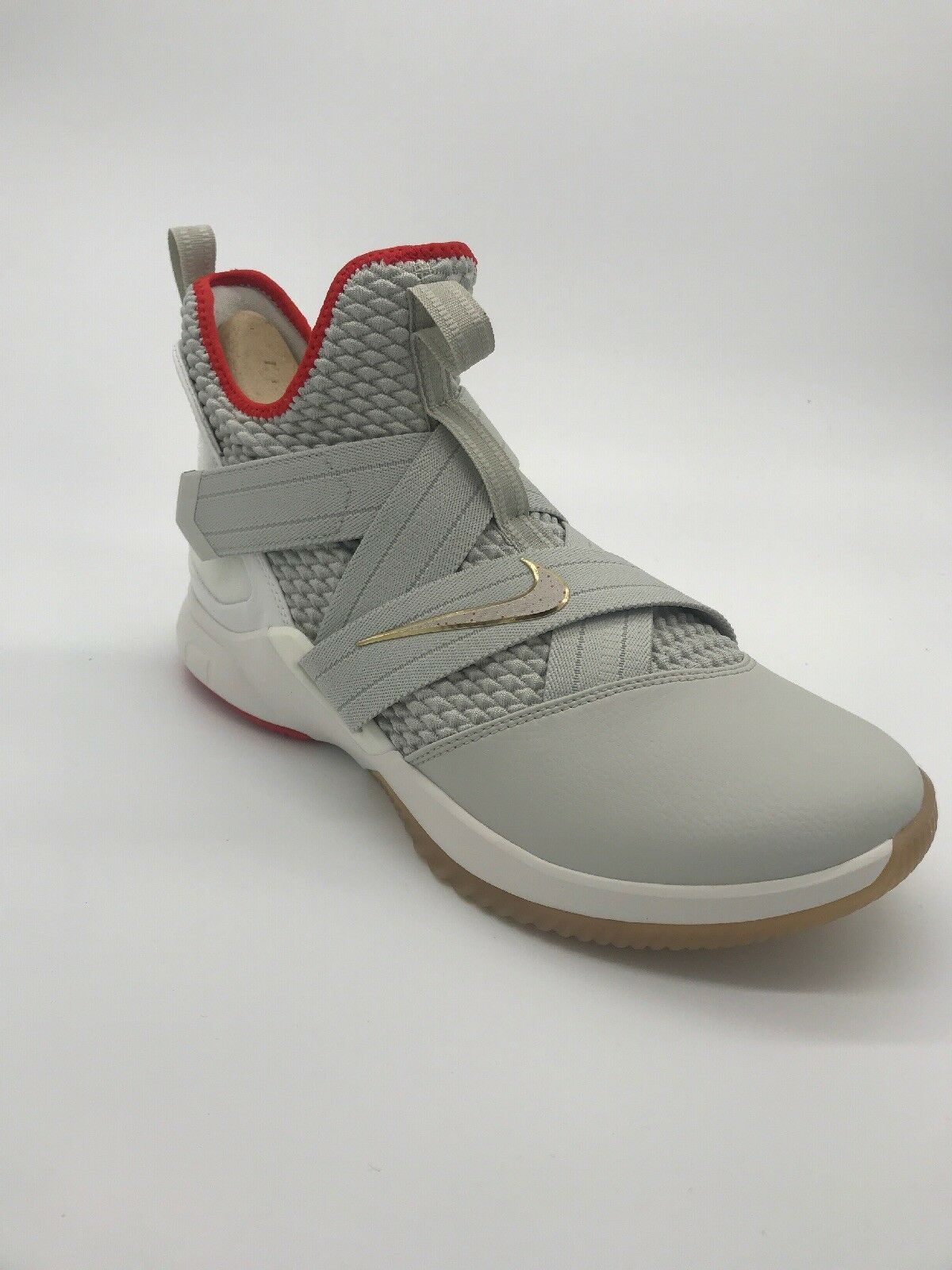 Nike Lebron Soldier XII AO2609 002 Mens Red White Footwear Size 10.5 Basketball