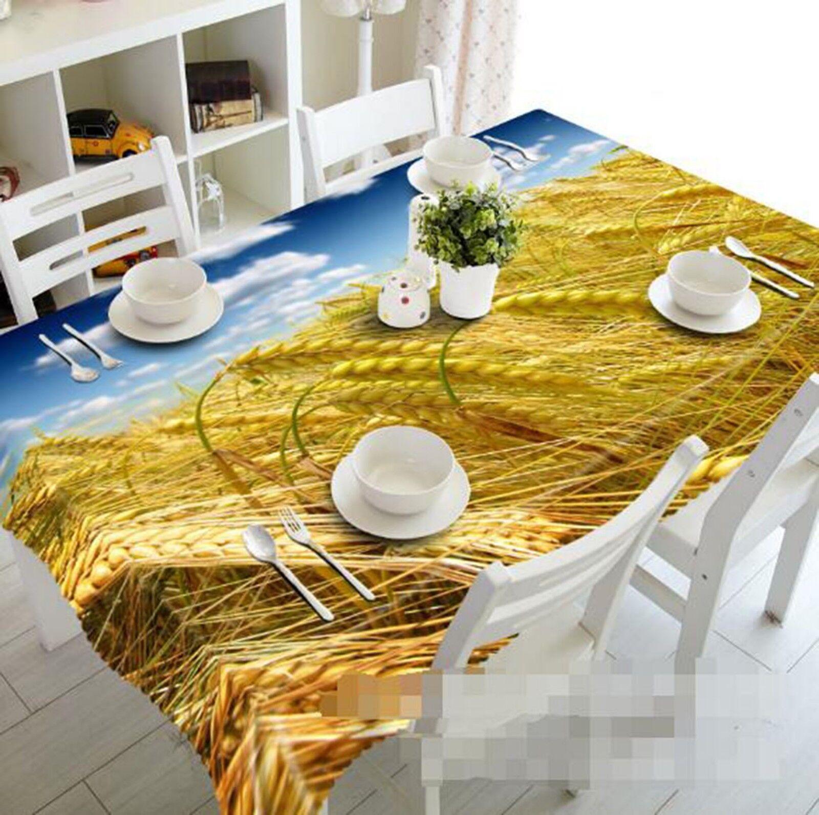 3D Wheat Fields 18 Tablecloth Table Cover Cloth Birthday Party Event AJ Lemon