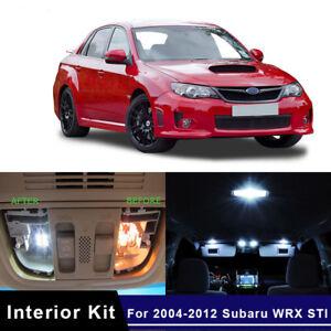 8x White LED Lights Interior Package Kit for 2004-2017 Subaru WRX STI