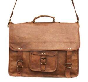 Handmade Messenger Genuine Brown Leather Vintage Men/'s Laptop Computer Bag