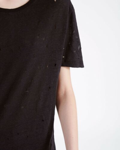 High T shirt Holes Maat Iro 38 Gloednieuw Black S Clay Lin Etiq 36 gqpd5fwRx
