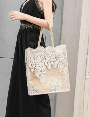 Lace Floral Shoulder Bag Wedding Party Summer Embroidery Fashion Women Handbag