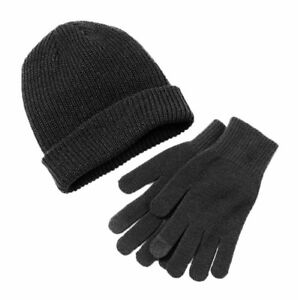 Van Heusen Men/'s One Size Black Solid Fitted Cuffed Knit Beanie NEW $26