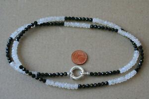Modulkette-Mondstein-Spinell-Weiss-Schwarz-L-67-cm-Silber-M-1553-M