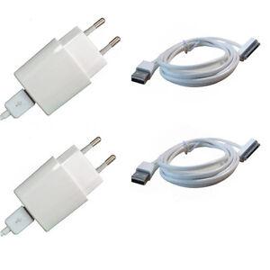 2x-Netzteil-2X-Original-HPO-USB-Datenkabel-fuer-iPhone-4-4S-3GS-iPod-Ladegeraet