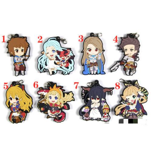 Anime GRANBLUE FANTASY Rubber keychain KeyRing Race