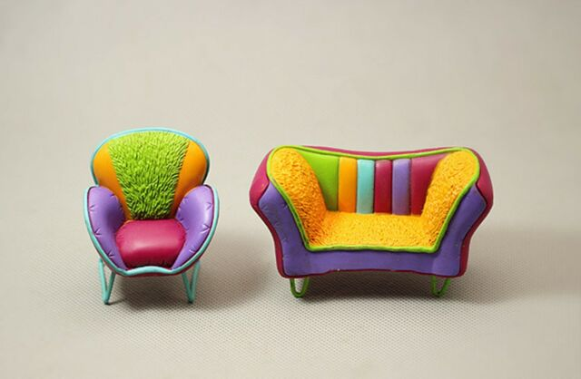 miniature couch mini furniture brick house