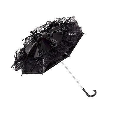 Regenschirm Sonnenschirm Automatik Brautschirm  Gothic Steampunk Callista