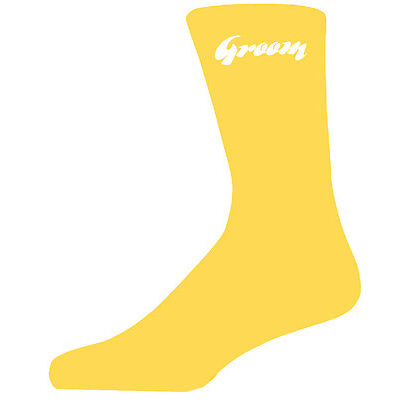 Groom on Yellow Socks, Wedding Socks for all the Party