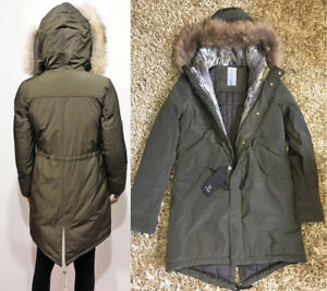 reputable site 32c80 a1c0e Details about F32 ITALY TOP QUALITY OVERSIZE WINTER PARKA COAT JACKET Fur  Giaccone Piumino M/L