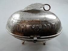 Esrog Pushke Etrog Box - Sterling Silver 925 - 410 gr. condition see description