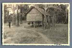 Cambodge-Village-d-039-Angkor-Vintage-silver-print-Cartolina-Postale-Postca