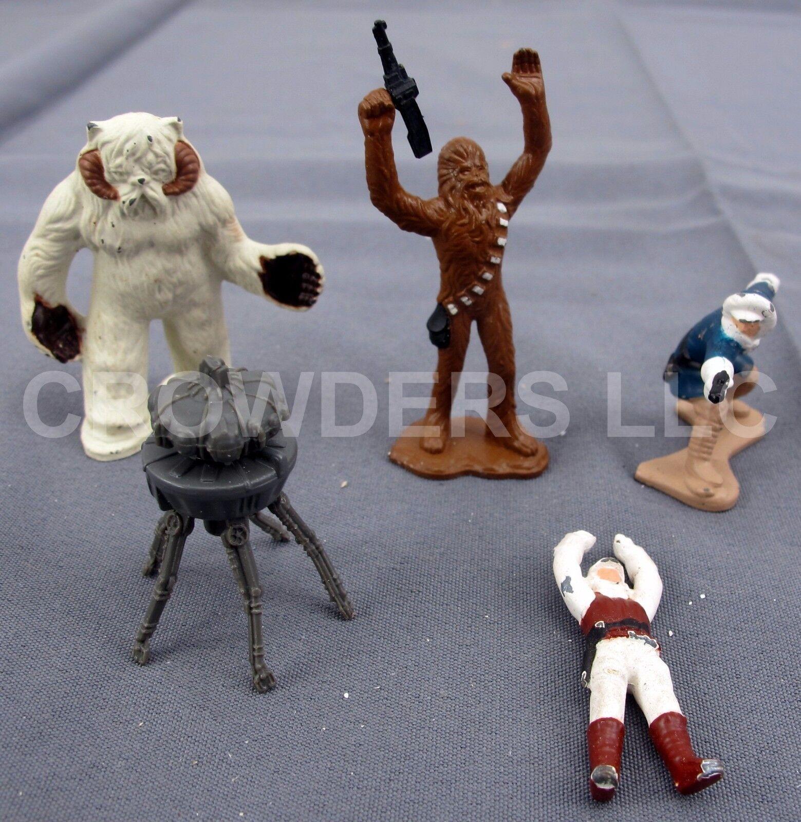 Star wars - sammlung wampa höhle druckguss figuren nur luke han, chewie.