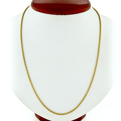 "14k or Jaune Round Box Link Collier Pendentif Chaîne 16/"" 1.7 mm"