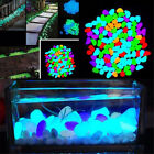 100pcs Glow In The Dark Stones Pebbles Rock FISH TANK AQUARIUM Garden Walkway ON