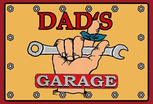 Dad 'S Garage Tin Sign Shield Arched Metal 20 X 30 CM FA0417