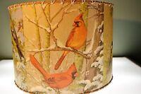 Northern Birds, Lamp Shade 16 X 16, Rustic Cabin Decor