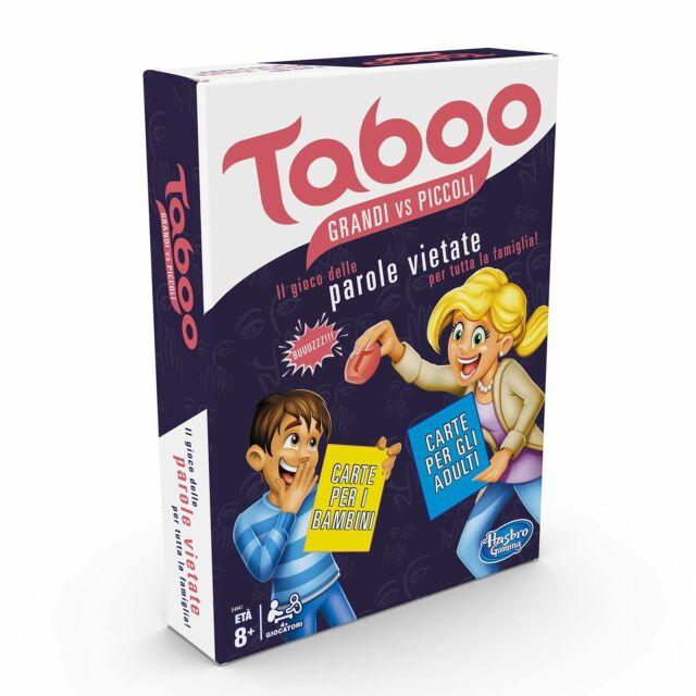 HASBRO GAMING TABOO PICCOLI VS GRANDI GIOCO IN SCATOLA x88