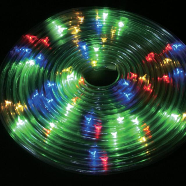 50 led 5m solar powered multi colour rope light outdoor strip party outdoor party xmas 5m solar powered rope string light strip multi coloured led aloadofball Choice Image