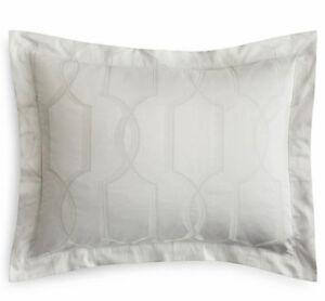 Sferra BRUNI KING Sheet Set Dove Grey Egyptian Cotton Sateen Jacquard New Italy