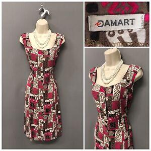 Damart-Multicoloured-Mix-Retro-Dress-12-Sleeveless-EUR-40