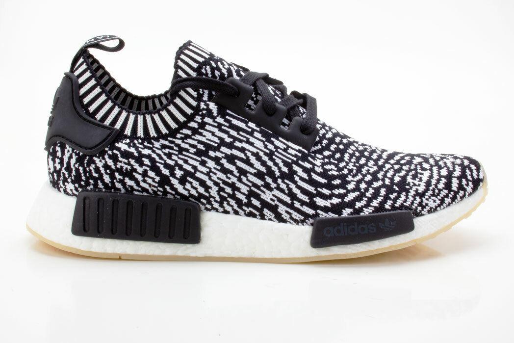 Adidas NMD_R1 PK Schuhe Herren Originals Turnschuhe BY3013 schwarz-weiß