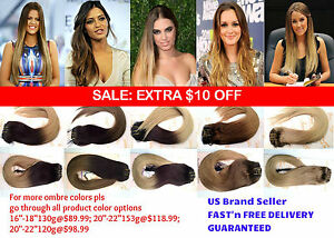 Ombre-Remy-Human-Hair-Clip-in-Extensions-16-034-OR-20-034-inch-Full-Head-Thick-to-Ends