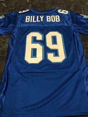 BILLY BOB #69 VARSITY BLUES MOVIE JERSEY FOOTBALL SEWN BLUE