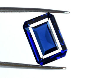 Blue-Tanzanite-Loose-Gemstone-Emerald-Cut-Natural-6-8-Ct-Transparent-Certified
