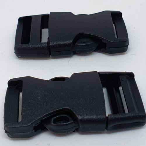 negro 2 trozo steckschließer 15mm 0,50 €//unidad