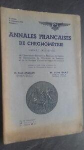 Folleto Anales Franceses De Chronometries N º 2 / 2E Trim. 1938 ABE