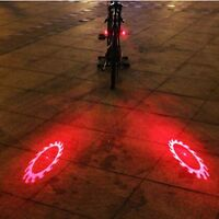 Bike Lights Bicycle Laser Rear Light Safety Cycling 6 Modes 6 Led Tail Lamp