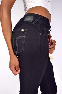 att-Amor-Trust-amp-VERITE-Jeans-Stella-Droit-Noir-jambe-droite-NEUF