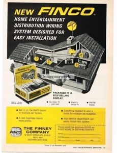 Wondrous 1969 Finco Home Entertainment Wiring System Tv Fm Stereo Vtg Print Wiring Digital Resources Xeirawoestevosnl