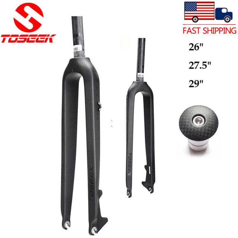 26 27.5 29ER Full Carbon Disc Brake MTB Mountain Bike Forks Threadless 1-1 8