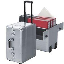 Pilotenkoffer Pilotentrolley Aluminium silber Trolley Koffer mit auf  Rollen XXL