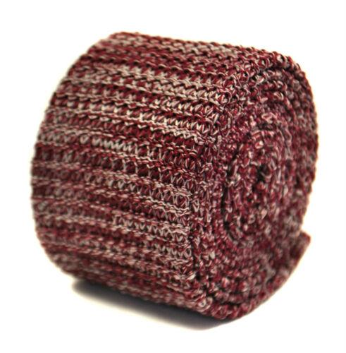 Frederick Thomas Speckled Granate Y Blanco Corbata tejidos de lana ajustados FT2206 PVP £ 20