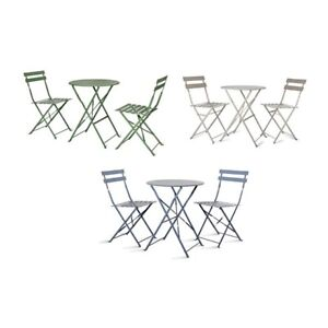 Image Is Loading Deluxe Garden Bistro Outdoor Metal Patio Set Weather
