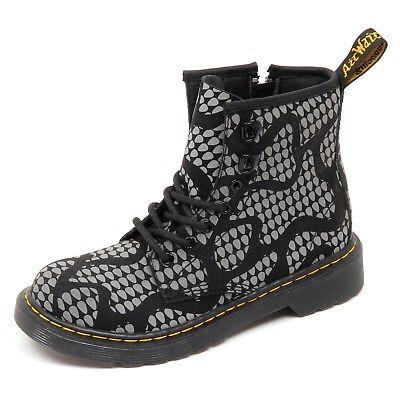 MARTENS nero//grigio boot shoe kid anfibio bimbo DR D3848 without box
