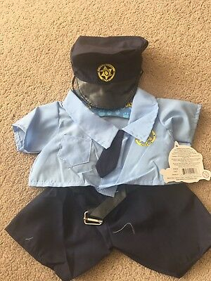 """Policeman Costume For 16"""" Teddie (fits Build A Bear Ones)"""